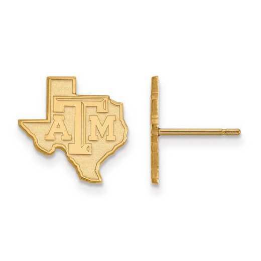 1Y047TAM: 10ky LogoArt Texas A&M University Small Post Earrings