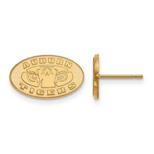 1Y049AU: 10ky LogoArt Auburn University XS Post Earrings