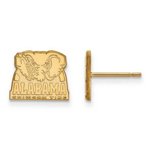 1Y066UAL: 10ky LogoArt University of Alabama Xs Post Earrings