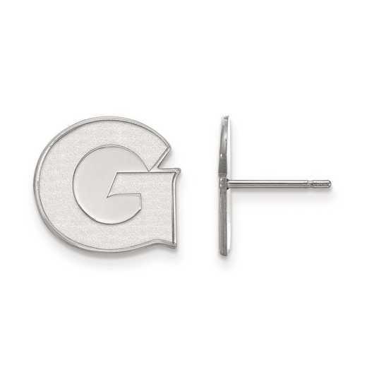 4W004GC: 14kw LogoArt Georgetown University Small Post Earrings