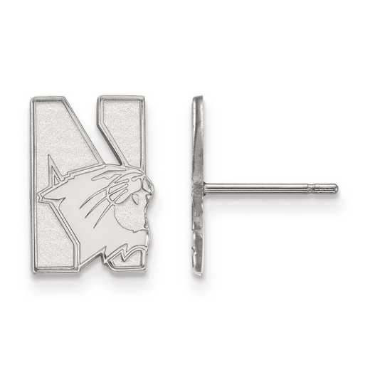 4W004NWU: 14kw LogoArt Northwestern University Small Post Earrings