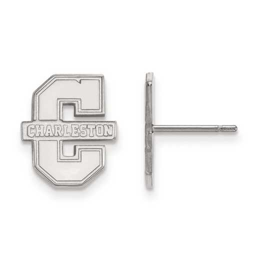 4W008CHC: 14kw LogoArt College of Charleston Small Post Earrings