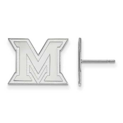 4W008MU: 14kw LogoArt Miami University Small Post Earrings