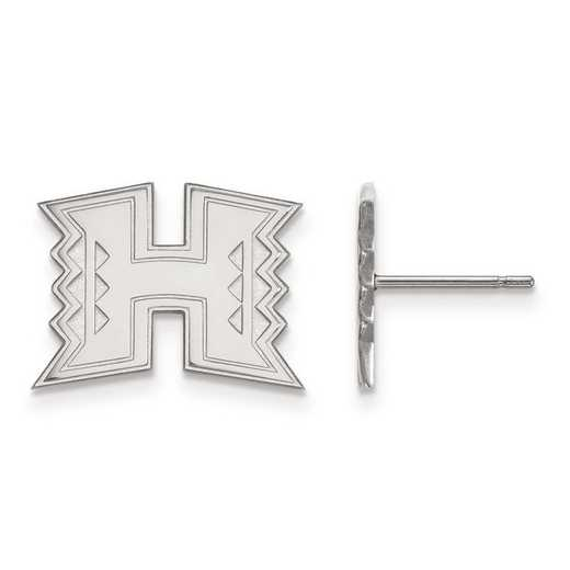 4W008UHI: 14kw LogoArt The University of Hawaii Small Post Earrings