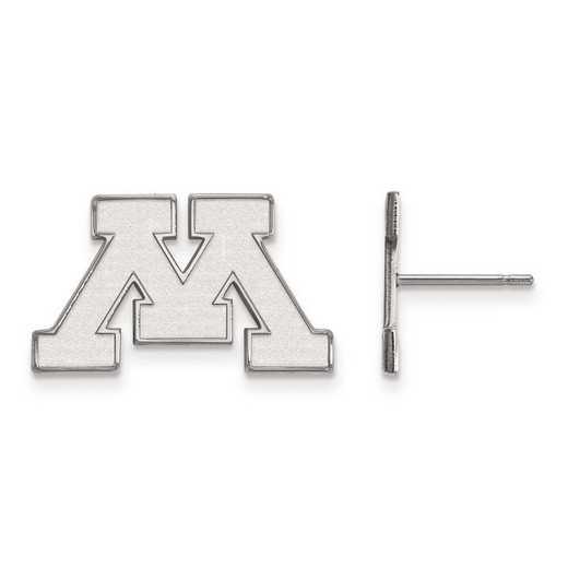 4W008UMN: 14kw LogoArt University of Minnesota Small Post Earrings
