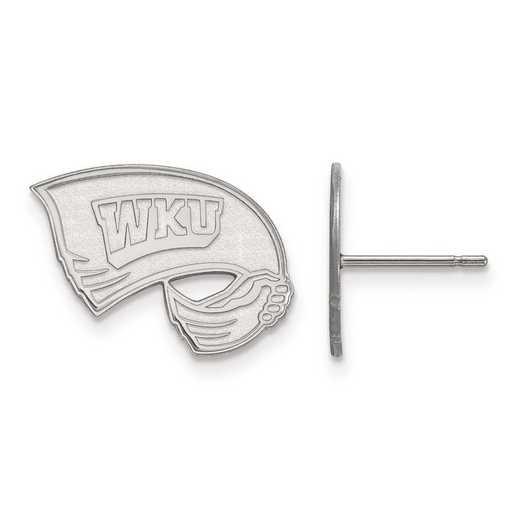 4W008WKU: 14kw LogoArt Western Kentucky University Small Post Earrings
