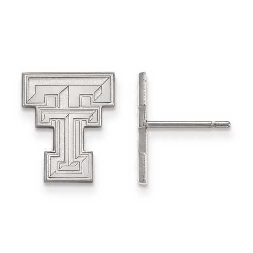 4W009TXT: 14kw LogoArt Texas Tech University Small Post Earrings