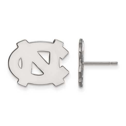 4W009UNC: 14kw LogoArt Univ of North Carolina Small Post Earrings