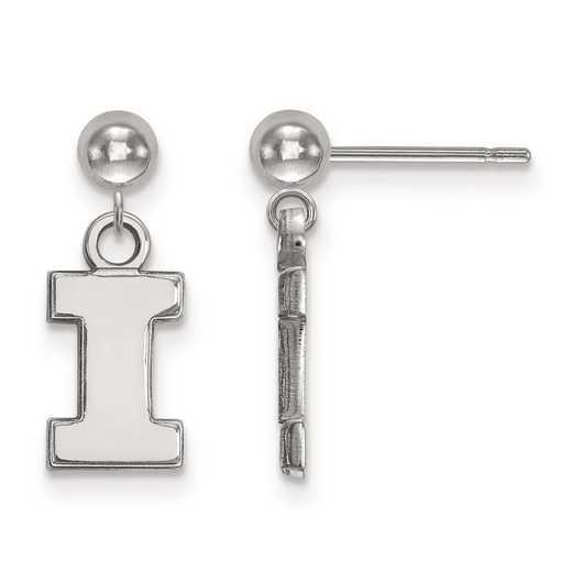 4W010UIL: 14kw LogoArt University of Illinois Earrings Dangle Ball