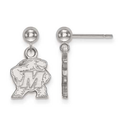 4W010UMD: 14kw LogoArt Maryland Earrings Dangle Ball