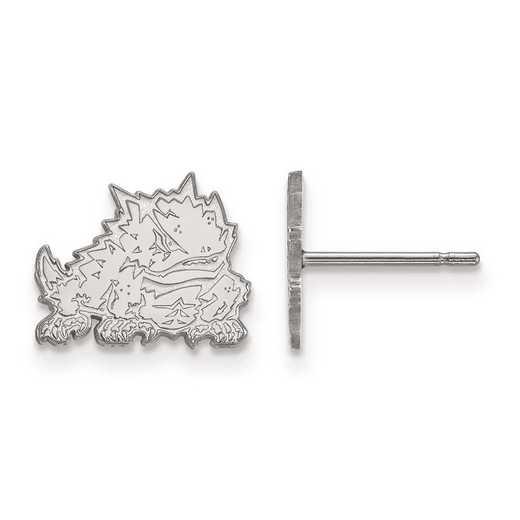 4W022TCU: 14kw LogoArt Texas Christian University XS Post Earrings