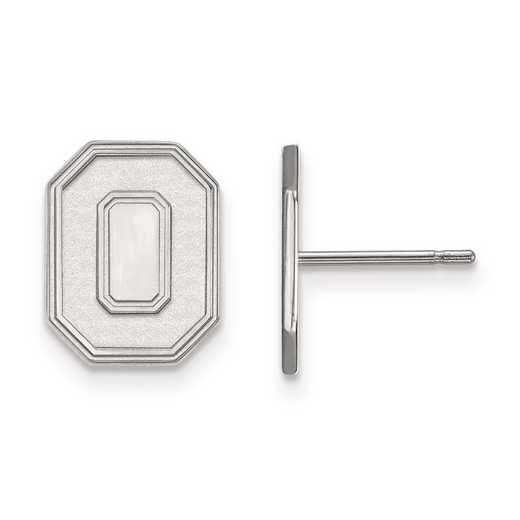 4W052OSU: 14kw LogoArt Ohio State University Small Post Earrings