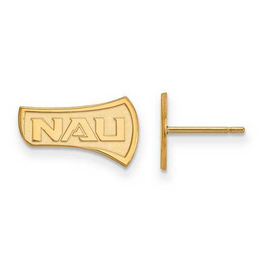 4Y004NAU: 14ky LogoArt Northern Arizona University Small Post Earrings