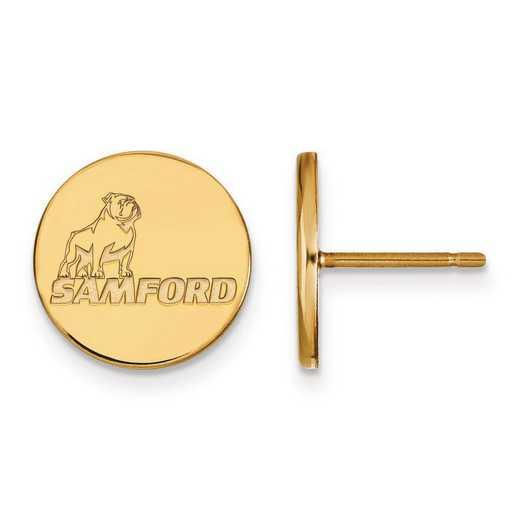 4Y004SMF: 14ky LogoArt Samford University Small Post Earrings