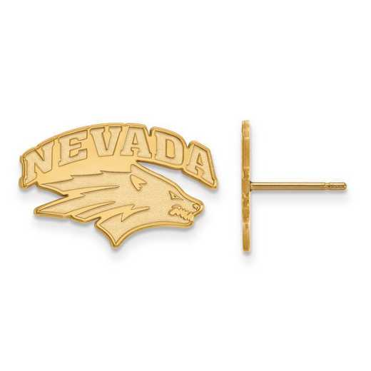 4Y004UNR: 14ky LogoArt University of Nevada Small Post Earrings