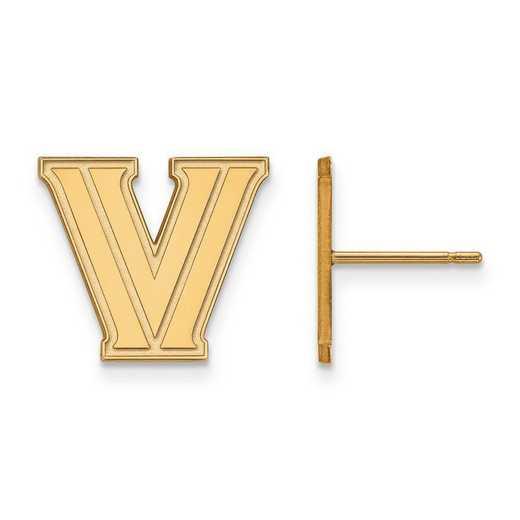 4Y007VIL: 14ky LogoArt Villanova University Small Post Earrings
