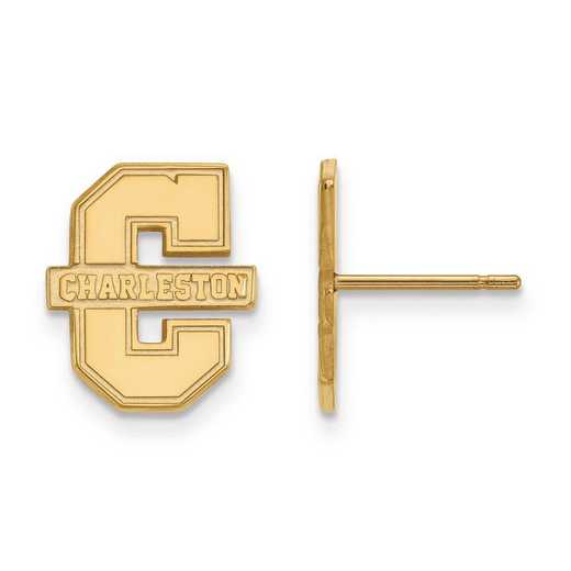 4Y008CHC: 14ky LogoArt College of Charleston Small Post Earrings