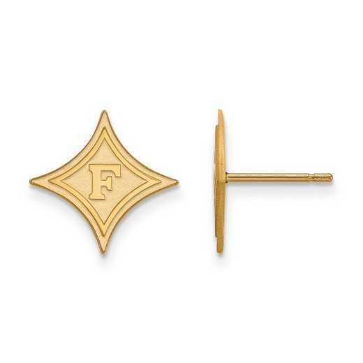 4Y008FUU: 14ky LogoArt Furman University Small Post Earrings