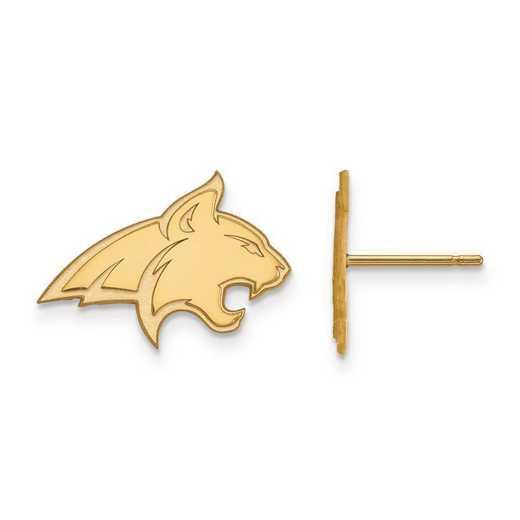 4Y008MTU: 14ky LogoArt Montana State University Small Post Earrings