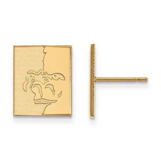 4Y008PSK: 14ky LogoArt Pittsburg State University Small Post Earrings