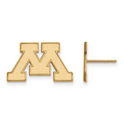 4Y008UMN: 14ky LogoArt University of Minnesota Small Post Earrings
