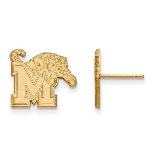 4Y008UMP: 14ky LogoArt University of Memphis Small Post Earrings
