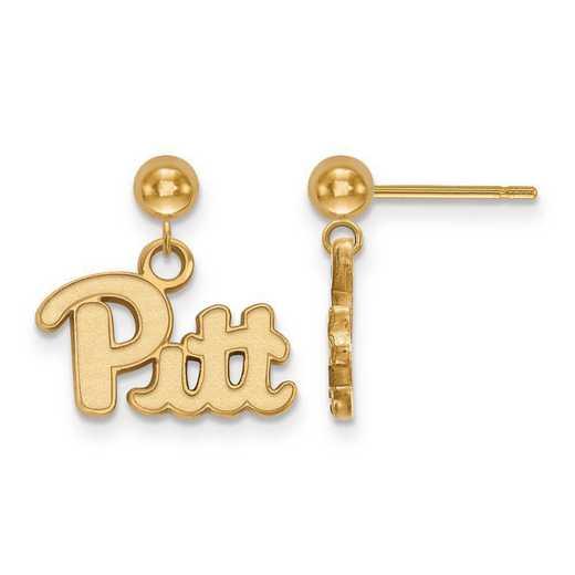 4Y008UPI: 14ky LogoArt University of Pittsburgh Earrings Dangle Ball