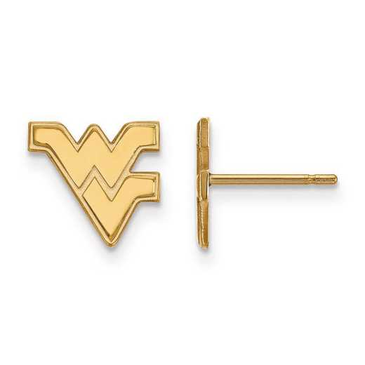 4Y008WVU: 14ky LogoArt West Virginia University XS Post Earrings