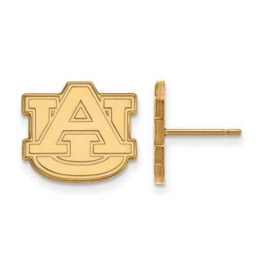 4Y009AU: 14ky LogoArt Auburn University Small Post Earrings