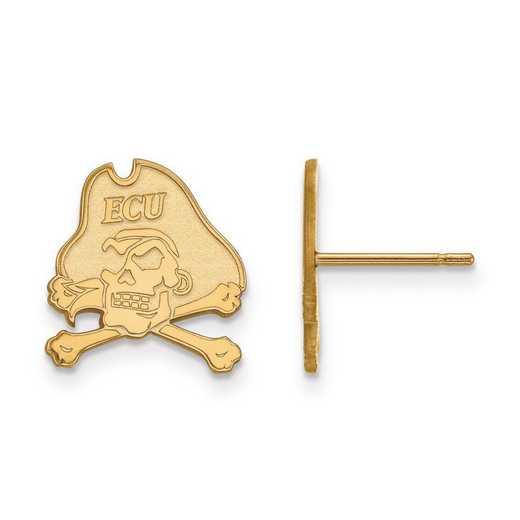 4Y009ECU: 14ky LogoArt East Carolina University Small Post Earrings