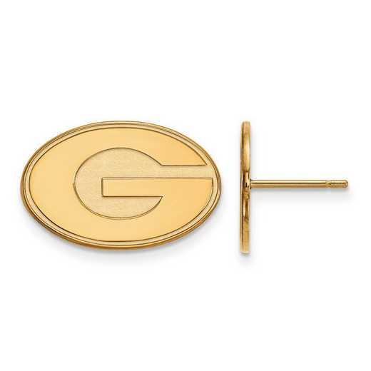 4Y009UGA: 14ky LogoArt University of Georgia Small Post Earrings
