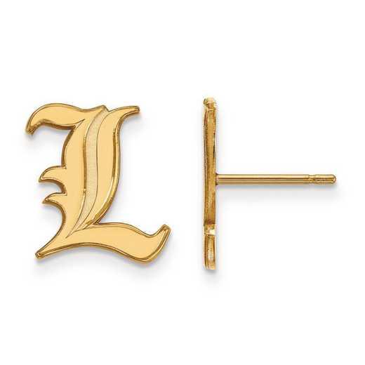 4Y009UL: 14ky LogoArt University of Louisville Small Post Earrings
