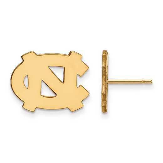 4Y009UNC: 14ky LogoArt Univ of North Carolina Small Post Earrings