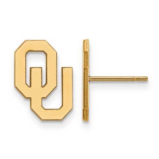 4Y009UOK: 14ky LogoArt University of Oklahoma Small Post Earrings