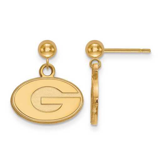 4Y010UGA: 14ky LogoArt University of Georgia Earrings Dangle Ball