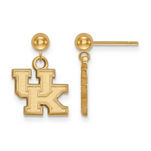 4Y010UK: 14ky LogoArt University of Kentucky Earrings Dangle Ball