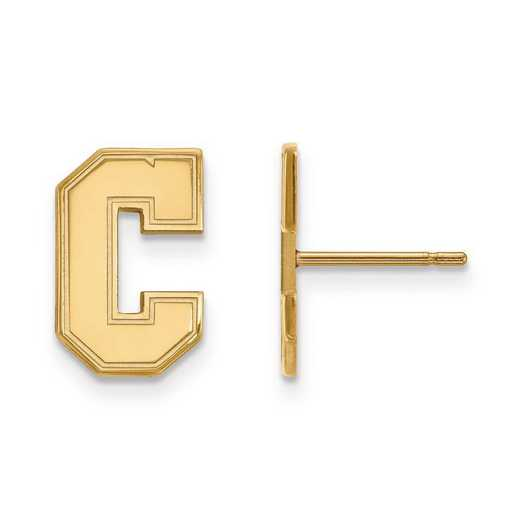 4Y017CHC: 14ky LogoArt College of Charleston Small Post Earrings