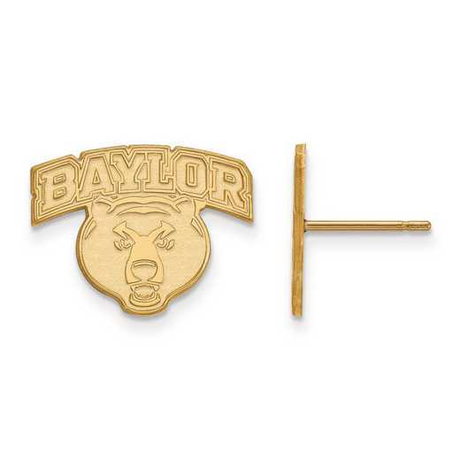4Y029BU: 14ky LogoArt Baylor University Small Post Earrings