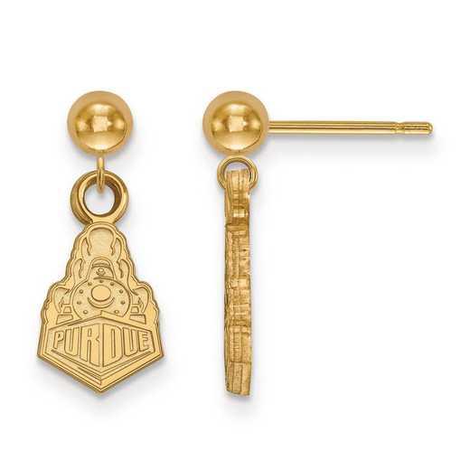 4Y045PU: 14ky LogoArt Purdue Earrings Dangle Ball