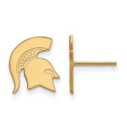 4Y051MIS: 14ky LogoArt Michigan State University Small Post Earrings