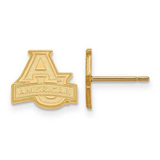 GP001AMU: SS GP LogoArt American University XS Post Earrings