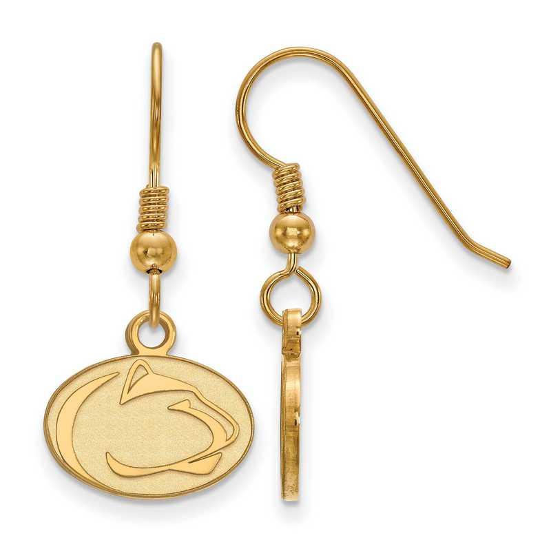 GP002PSU: SS YGFP LogoArt Penn St XS Dangle Earrings - Yellow