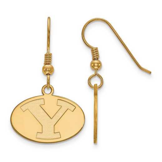 GP003BYU: SS GP LogoArt Brigham Young University Small Dangle Earrings