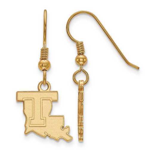 GP003LTU: SS GP LogoArt Louisiana Tech University Small Dangle Earring