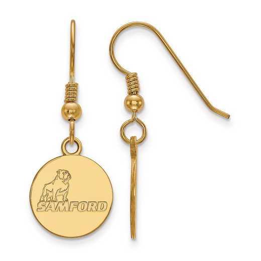 GP003SMF: SS GP LogoArt Samford University Small Dangle Earrings