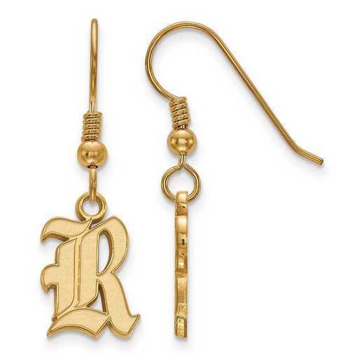 GP003WMR: SS GP LogoArt Rice University Small Dangle Earrings