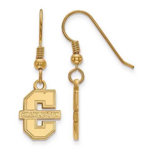 GP006CHC: SS GP LogoArt College of Charleston Small Dangle Earrings