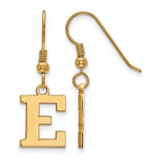 GP006EMU: SS GP LogoArt Eastern Michigan Univ Small Dangle Earrings