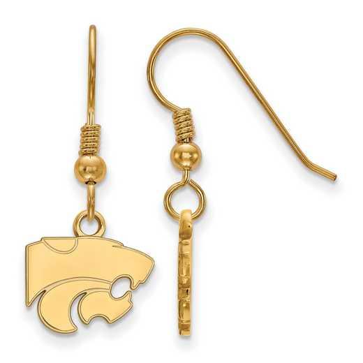 GP006KSU: SS YGFP LogoArt Kansas St XS Dangle Earrings - Yellow