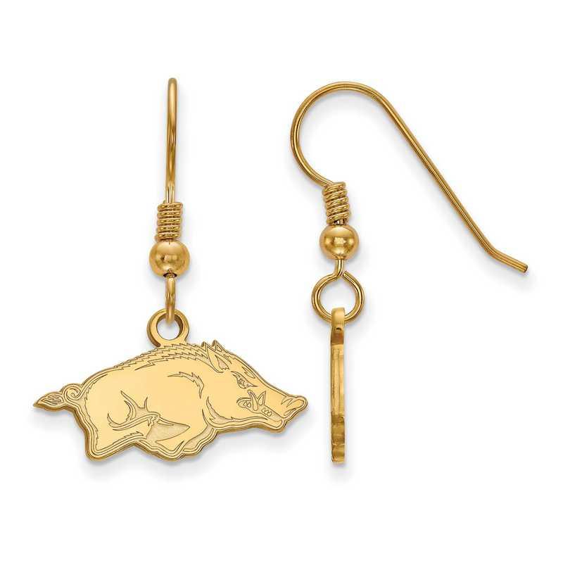 GP006UAR: SS YGFP LogoArt Arkansas XS Dangle Earrings - Yellow